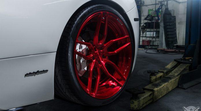 Ferrari 458 Italia Rolling on Gloss Red ADV.1 Wheels