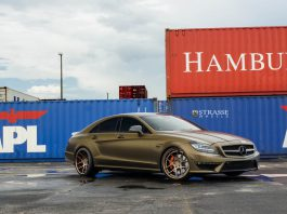 Matte Bond Gold Mercedes-Benz CLS63 AMG