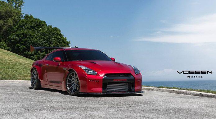 Red Rocket Bunny Nissan GT-R with VFS-1 Vossen Wheels