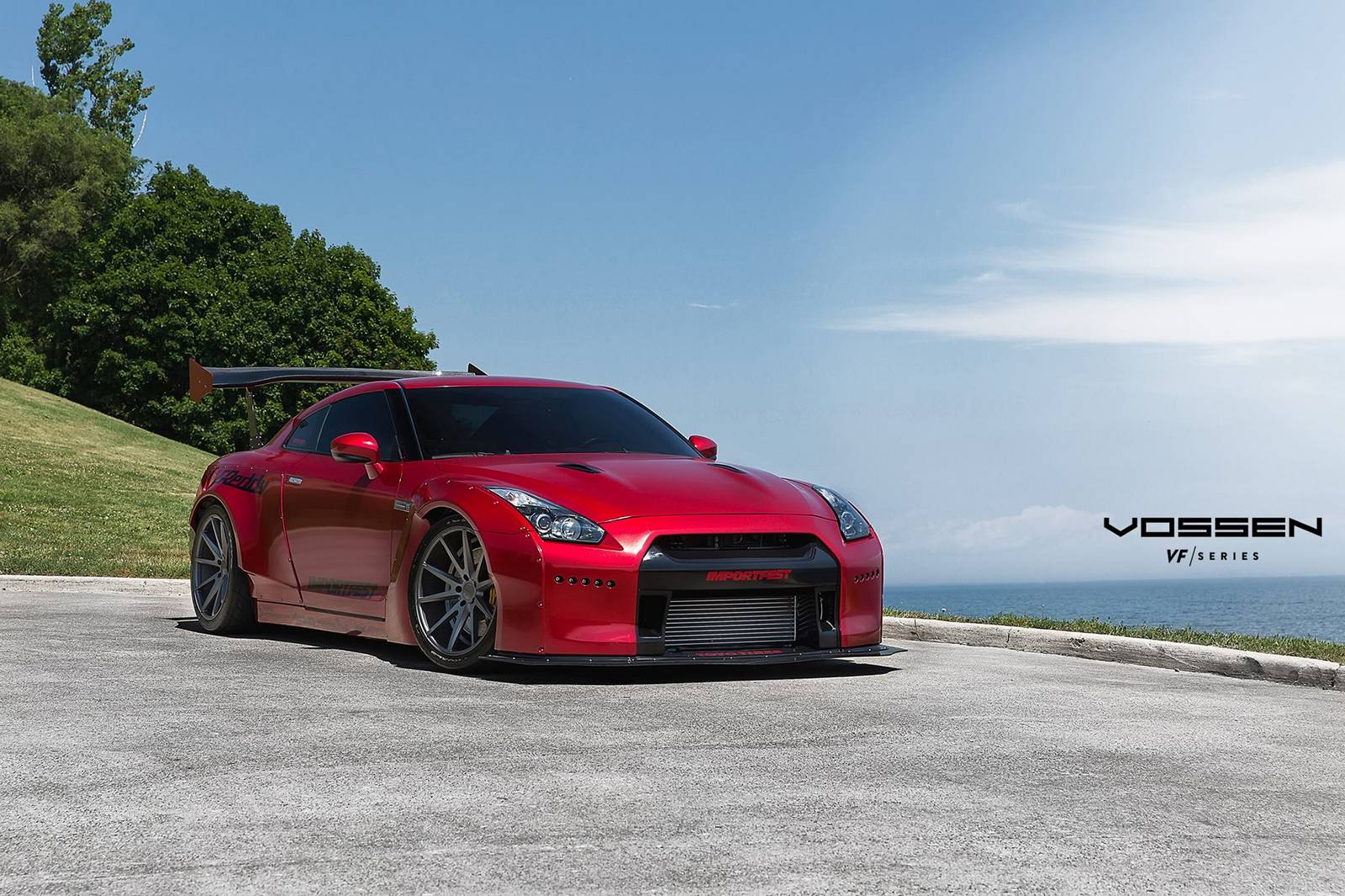 Red Rocket Bunny Nissan GT-R with VFS-1 Vossen Wheels ...