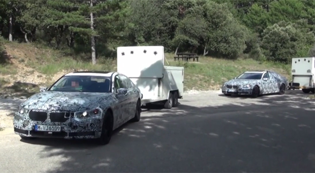 Video: Two 2016 BMW 7-Series Prototypes Spied Testing