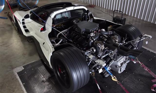 Video: Insane White Hennessey Venom GT on a Dyno!
