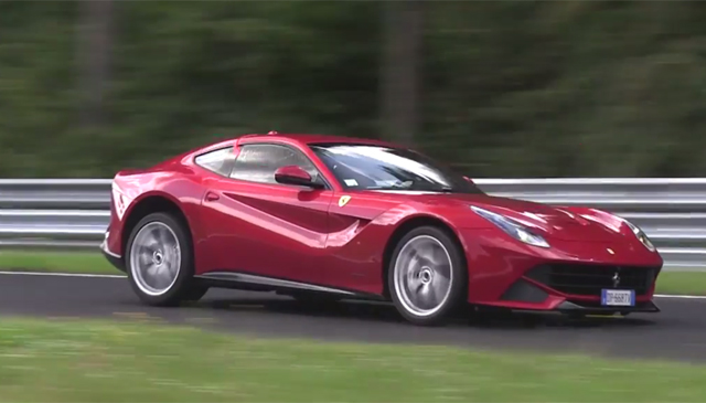Video: Ferrari F12 Hits the Nurburgring in Possible Timed Lap Attempt