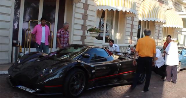 Video: Push Starting a Pagani Zonda F Roadster