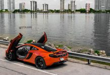 Stunning Volcano Orange McLaren 12C on Strasse Wheels!