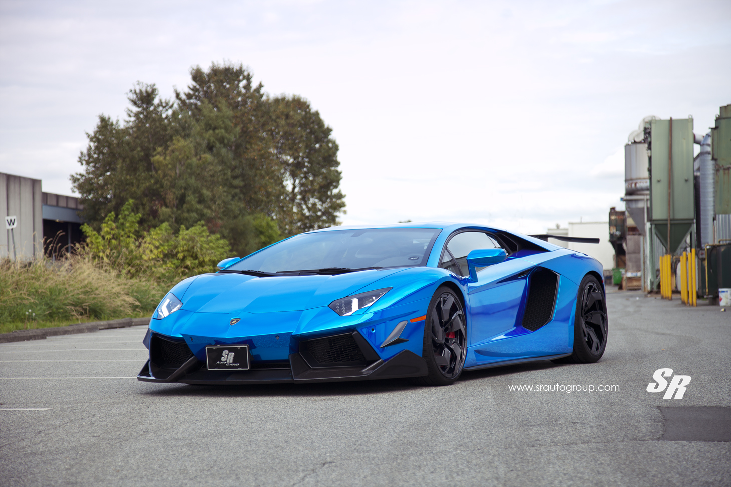Bright Blue Lamborghini Aventador By Sr Auto Group And Pur Wheels