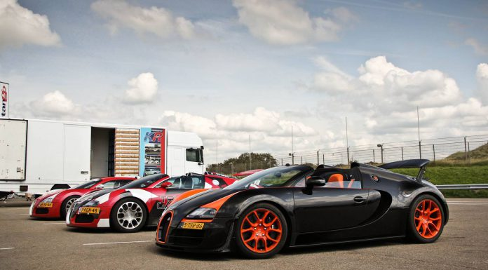 Photo of the Day: Three Bugatti Veyrons at Zandvoort Circuit