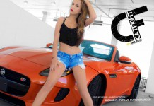 Jaguar F-Type V8 Meets Catfight Model Lianita Crystal