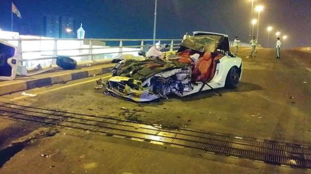 Ferrari California Destroyed After Rear-Ending Bus