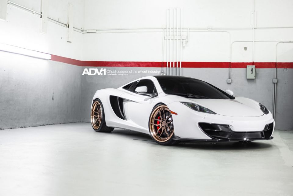 Gallery: White McLaren 12C by Fabspeed and ADV 1 Wheels