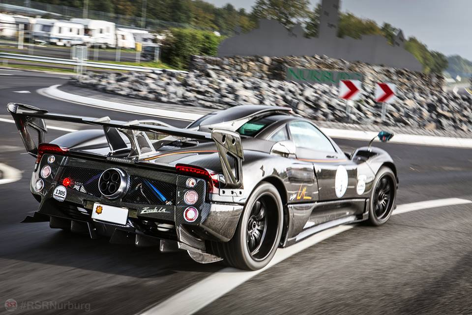 video: one-off pagani zonda 760 lm at the nurburgring - gtspirit
