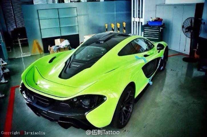 bright green mclaren p1 delivered in china - gtspirit
