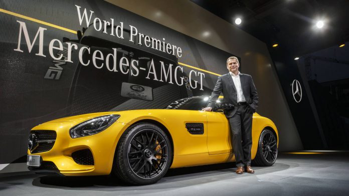 Tobias Moers pictured with the AMG GT
