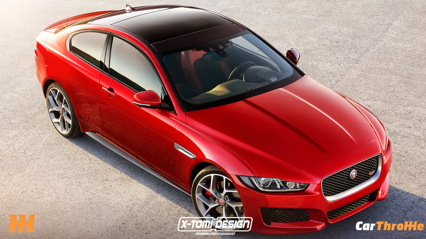 jaguar xe coupe rendered gtspirit. Black Bedroom Furniture Sets. Home Design Ideas