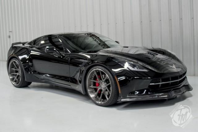 Unique Widebody Black C7 Corvette Stingray For Sale - GTspirit