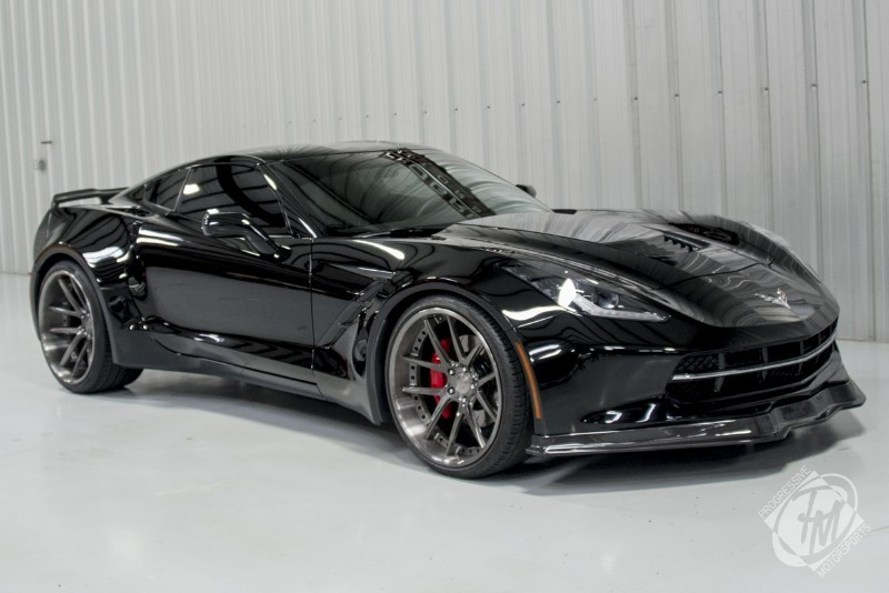Unique Widebody Black C7 Corvette Stingray For Sale Gtspirit