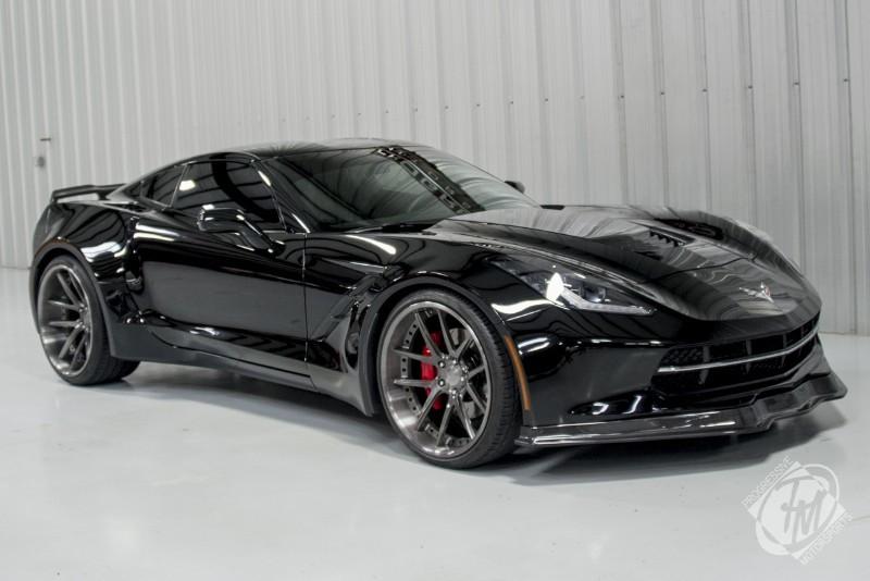 unique widebody black c7 corvette stingray for sale gtspirit. Black Bedroom Furniture Sets. Home Design Ideas