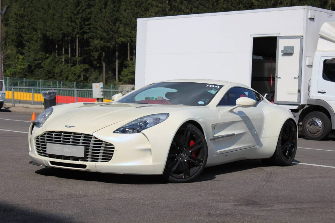 Five Aston Martin One-77s at Spa-Francorchamps