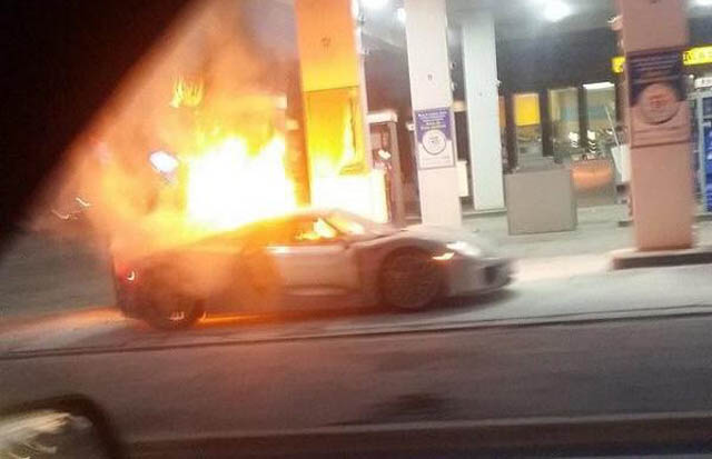 Porsche 918 Spyder Burns In Toronto Fire Gtspirit