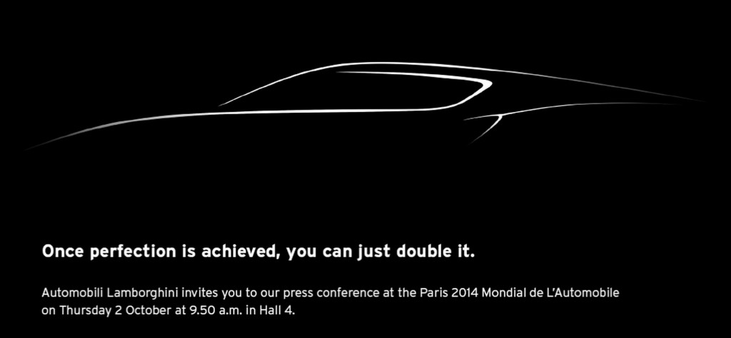 Lamborghini Teases New Four-Dour Car Ahead of Paris