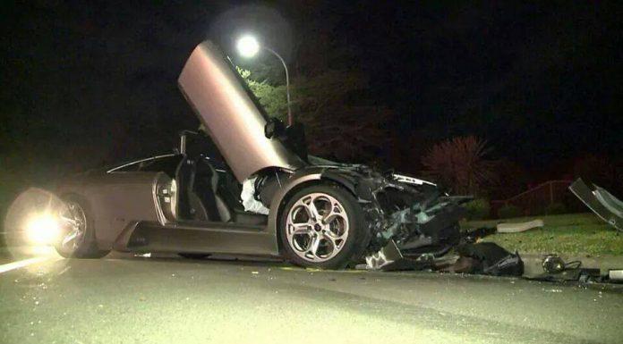 Lamborghini Murcielago Crashes in Sydney