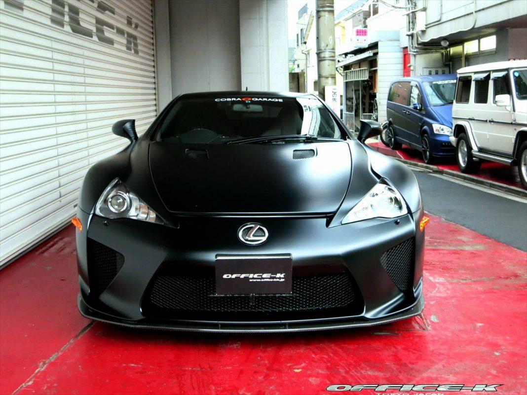 Matt Black Lexus LFA by Office-K