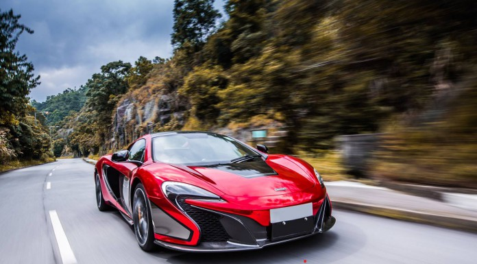 Red Chrome McLaren 650S Spider by Impressive Wrap Hong Kong