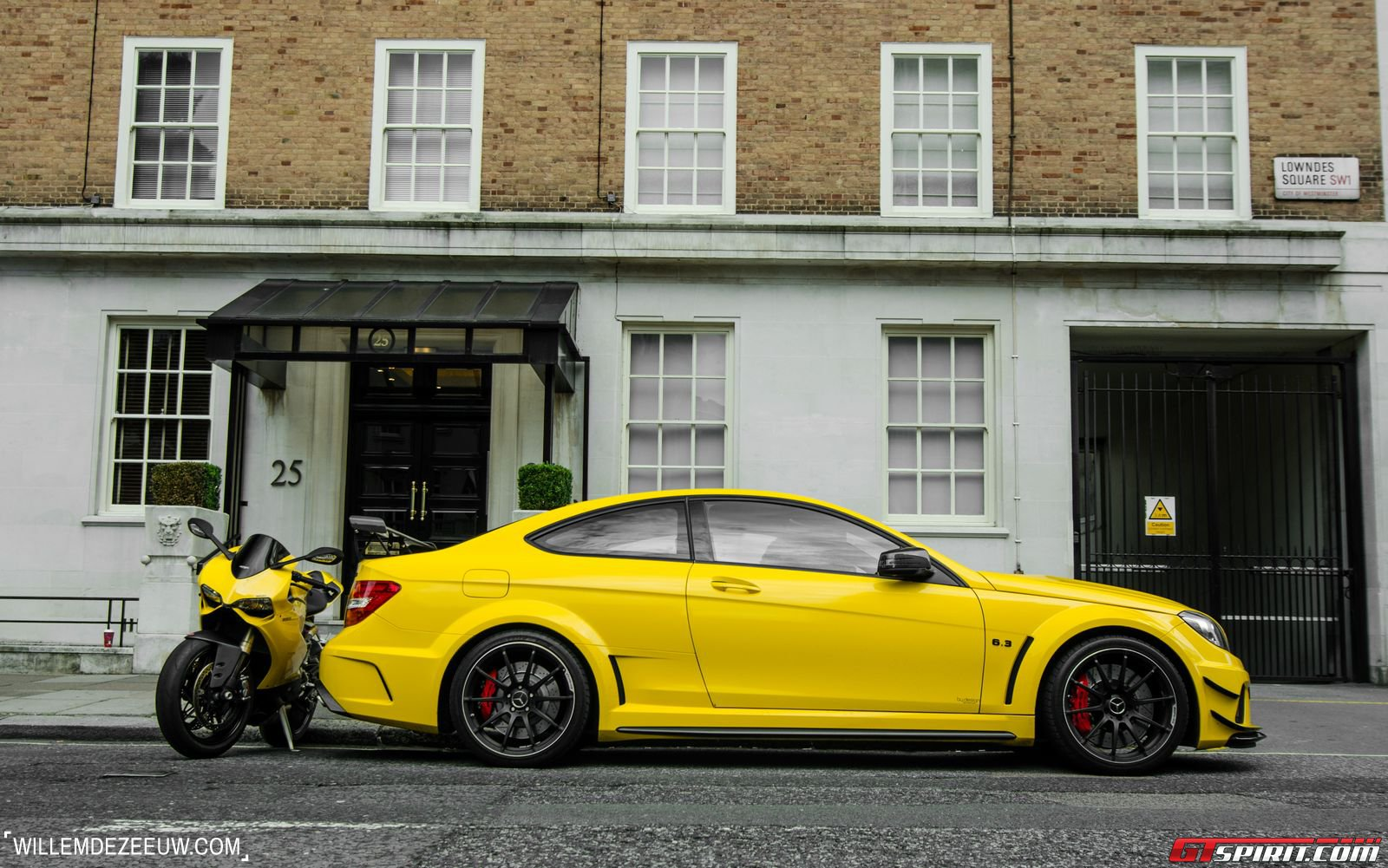 photo of the day mercedes benz c63 amg black series and ducati 1199 panigale gtspirit. Black Bedroom Furniture Sets. Home Design Ideas