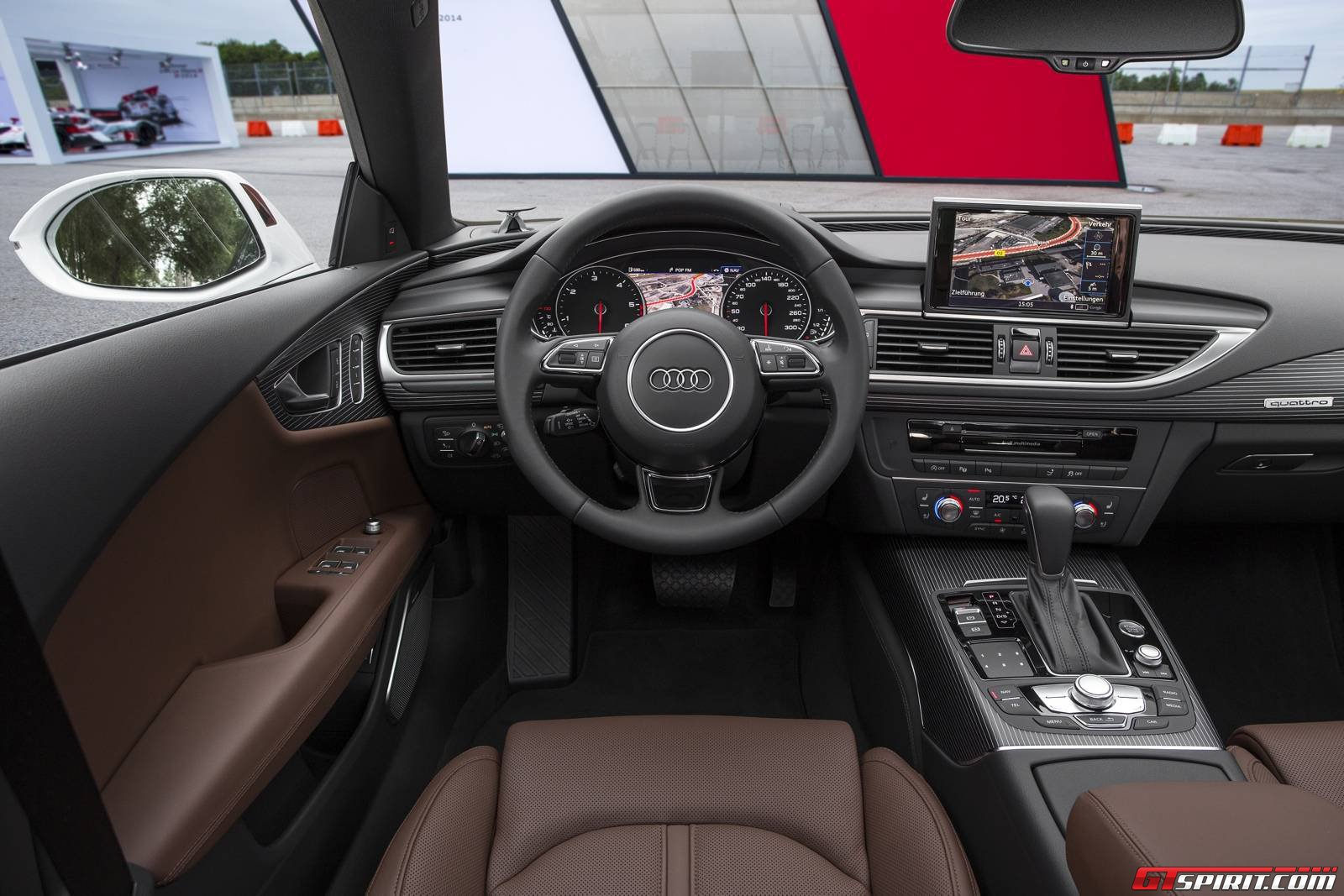 audi 2015 a7 red. 2015 audi a7 facelift review red