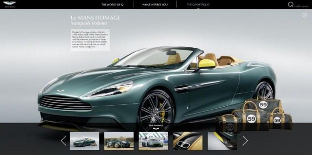 Q By Aston Martin Goes Online