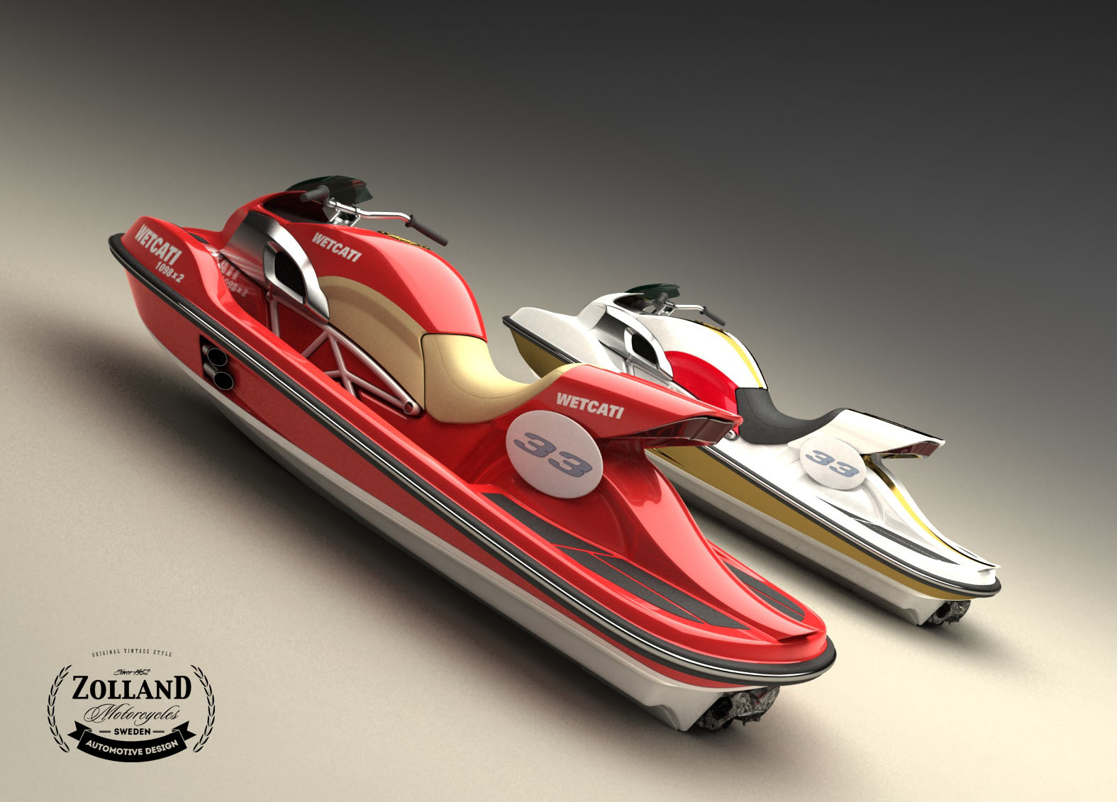 ducati style jetski with twin ducati 1098 engine gtspirit. Black Bedroom Furniture Sets. Home Design Ideas