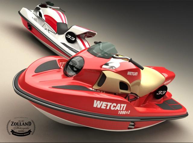 Ducati Style Jetski with Twin Ducati 1098 Engine