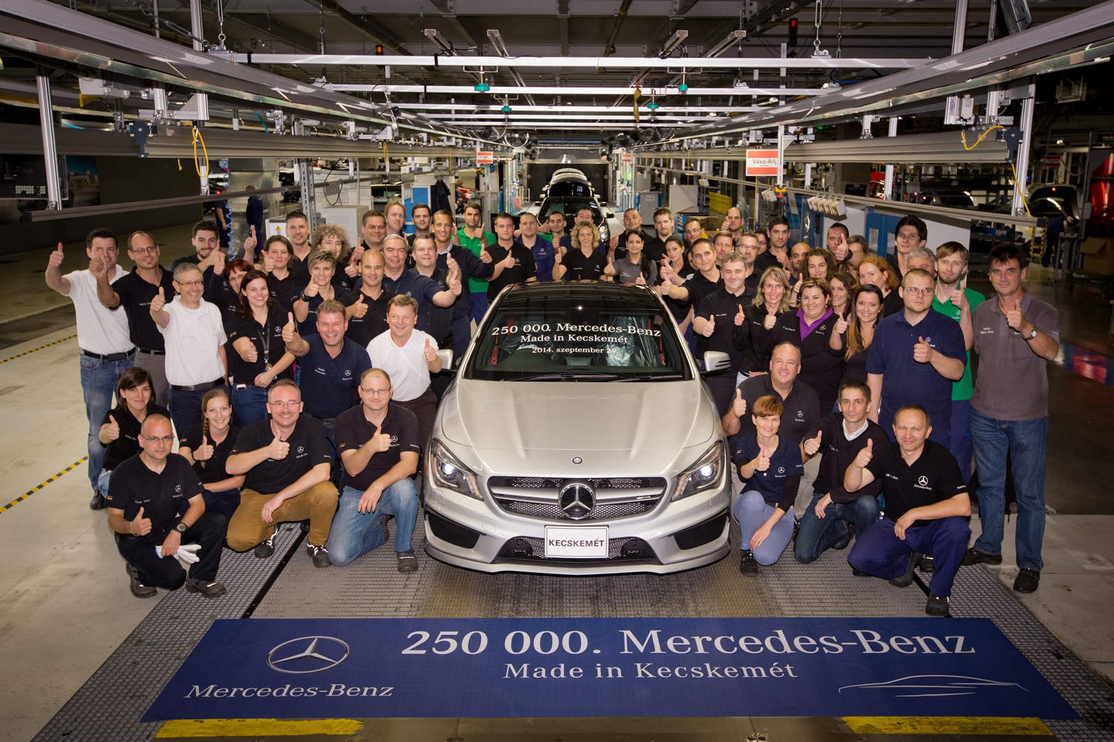 mercedes benz kecskem t factory celerates 250 000th