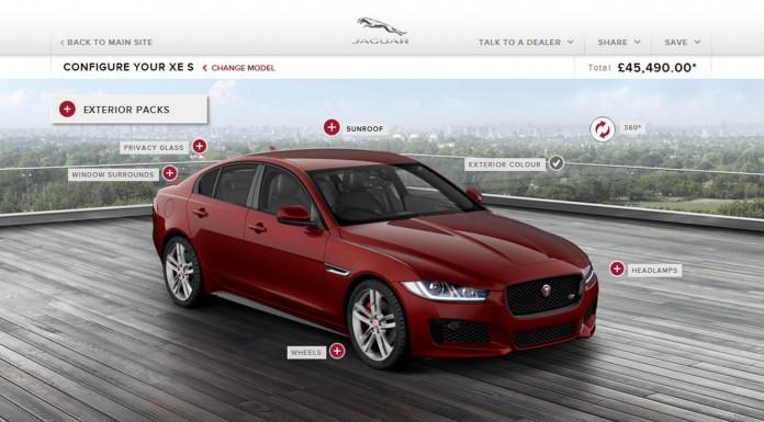 Jaguar XE Online Configuration Launched
