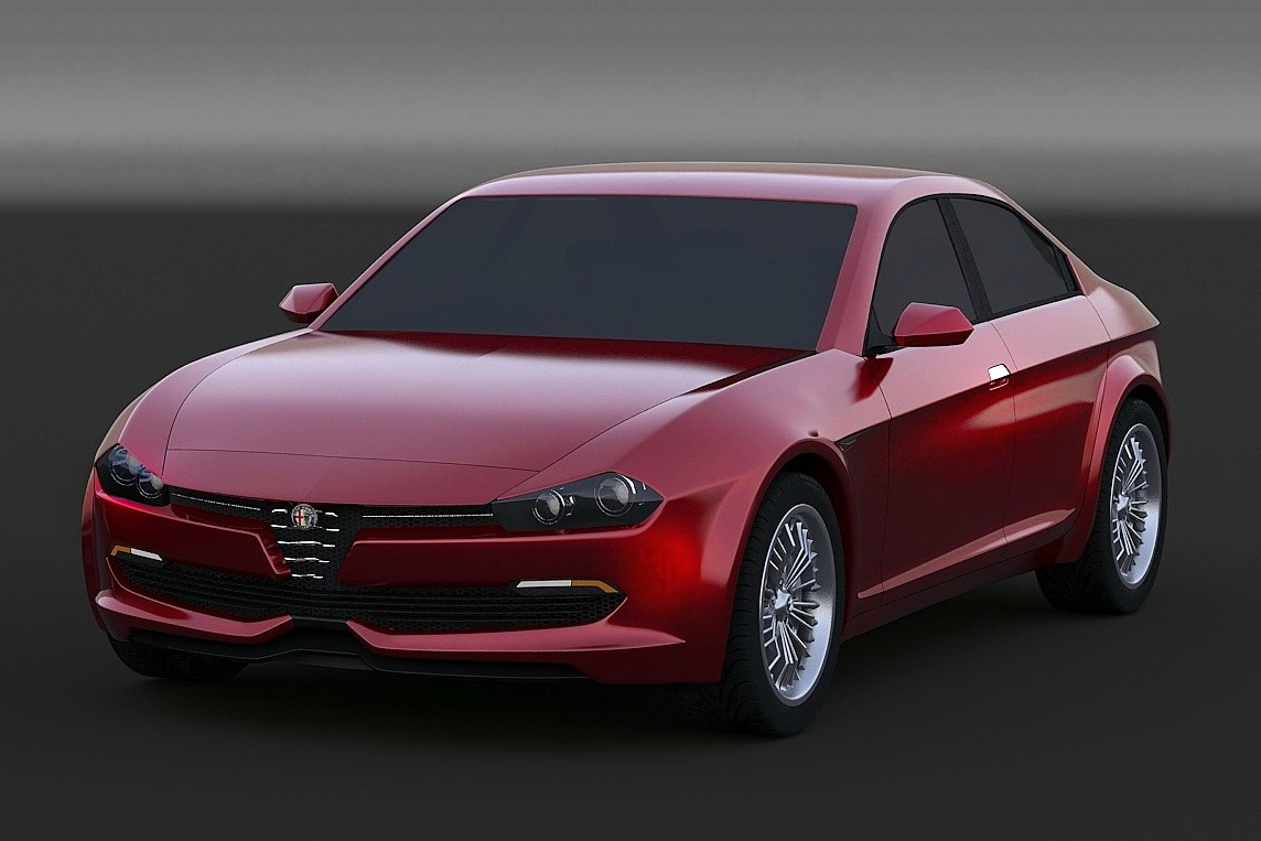 upcoming alfa romeo giulia rendered gtspirit. Black Bedroom Furniture Sets. Home Design Ideas