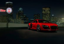Stunning Red Audi R8 V10 with HRE Wheels