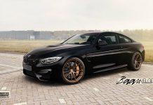 Black BMW M4 with Matt Bronze HRE Wheels