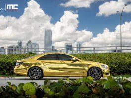Gold Mercedes-Benz CLS63 AMG