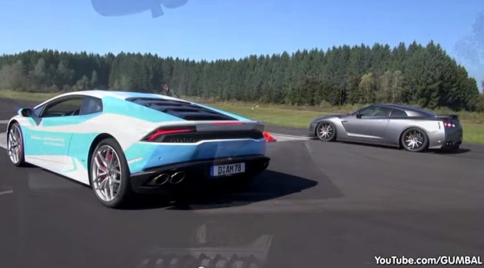 Video: Lamborghini Huracan Takes on Tuned Nissan GT-Rs
