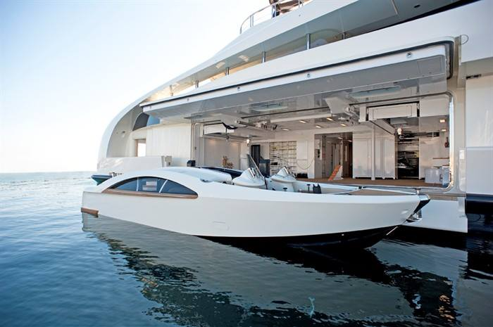 Tender Lifts For Boats : The palladium superyacht by blohm voss gtspirit