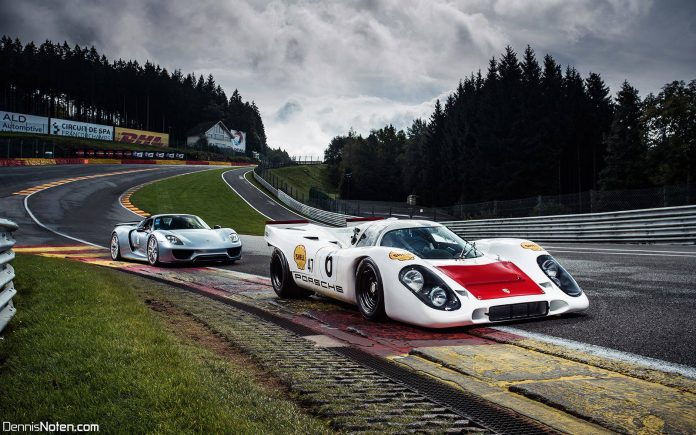 Photo of the Day: Porsche 917 and 918 Spyder at Eau Rouge