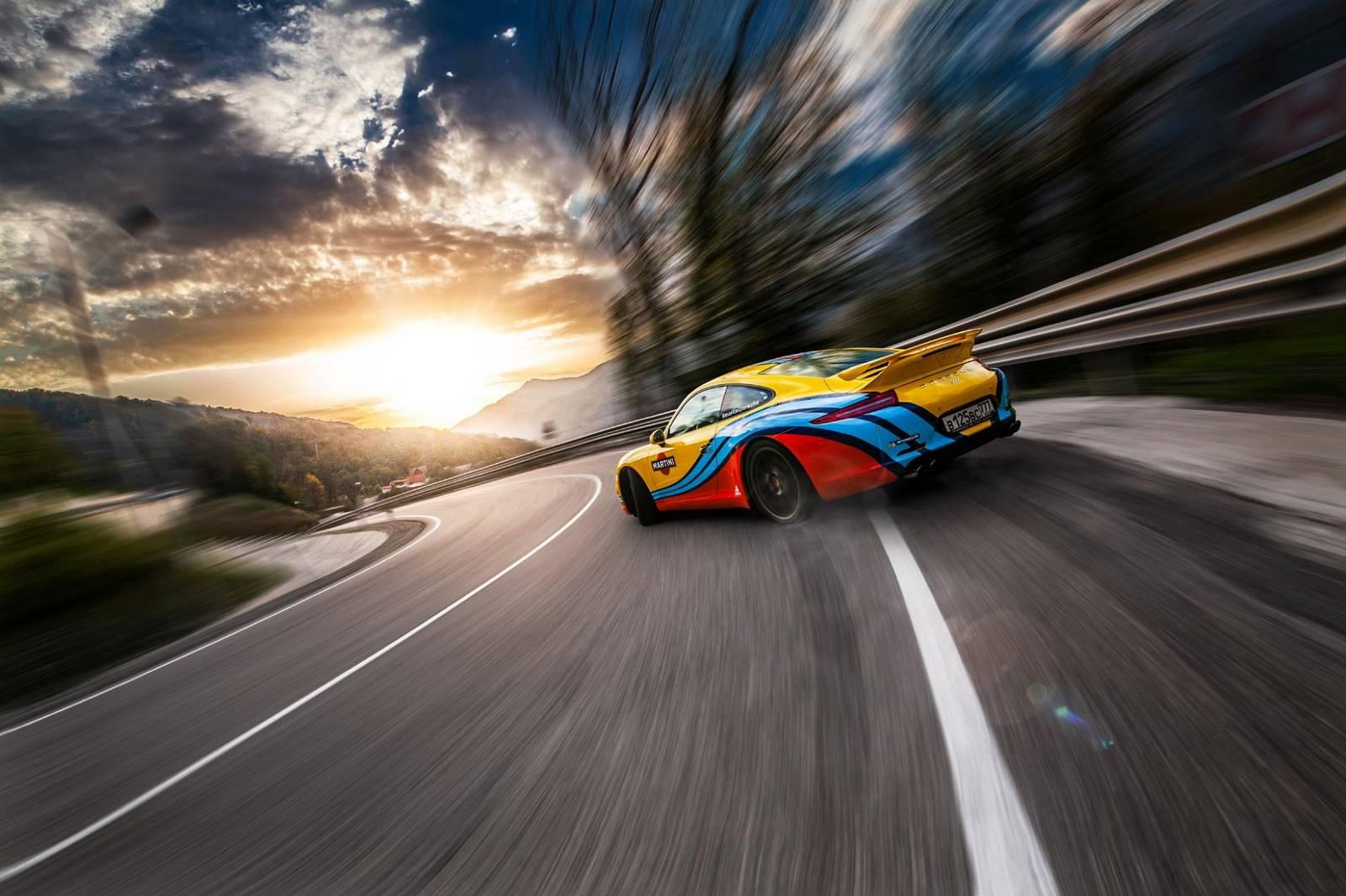 Gallery Porsche Cars In Martini Racing Stripes In Sochi Gtspirit