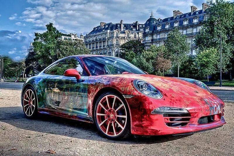 Porsche 911 Carrera Wrapped in Color Art