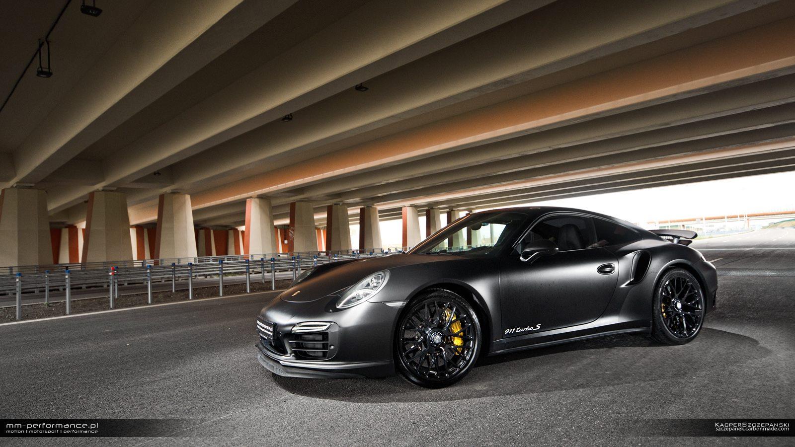 matte black porsche 911 turbo s by mm performance