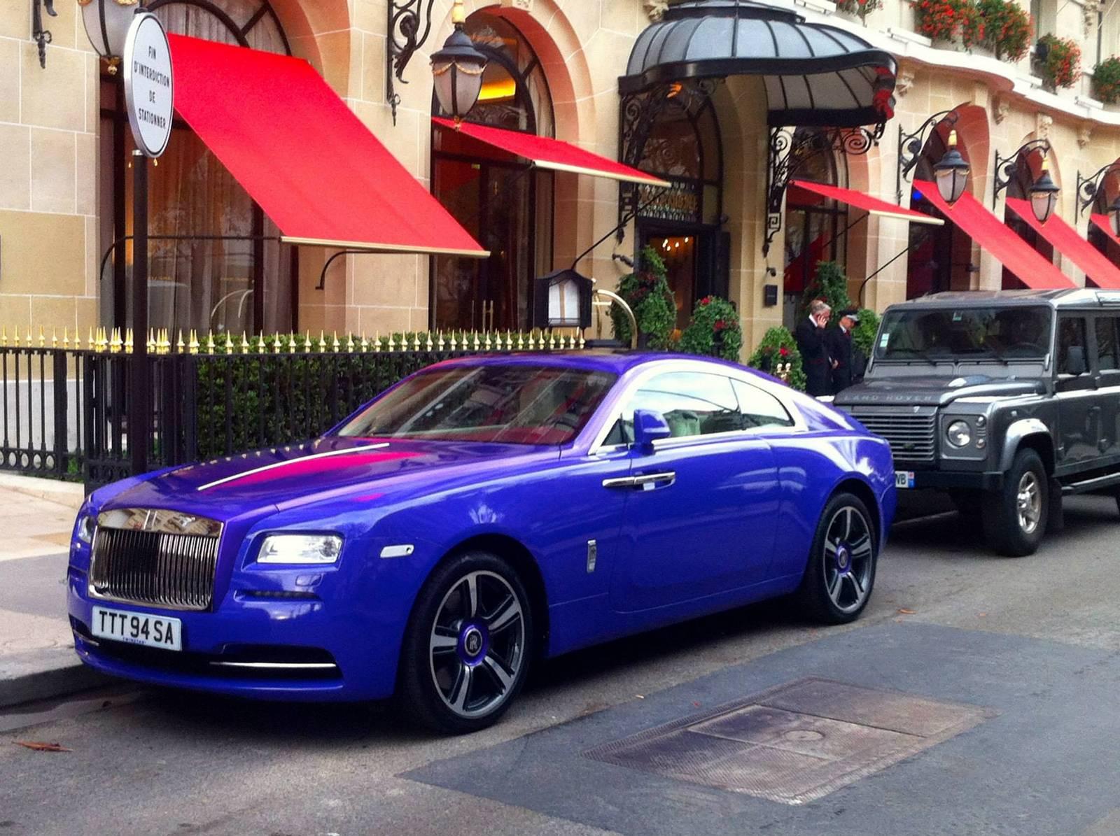 Purple Rolls Royce Wraith Stuns In Paris Gtspirit