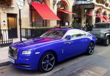 Purple Rolls-Royce Wraith Spotted in Paris