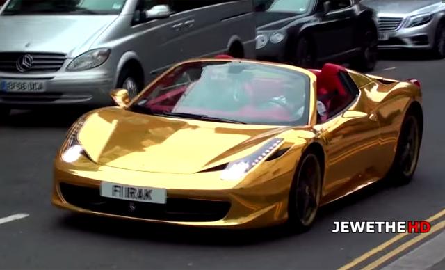 Video Chrome Gold Ferrari 458 Spider In London Gtspirit