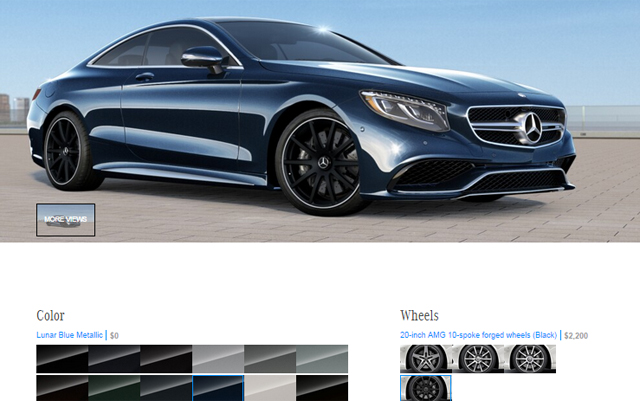 Mercedes-Benz S-Class Coupe Online Configurator Launched - GTspirit
