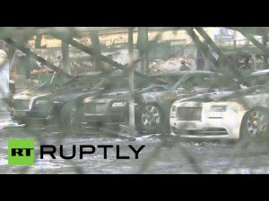 $3.3 Million Worth of Supercars Destroyed in Moscow Fire