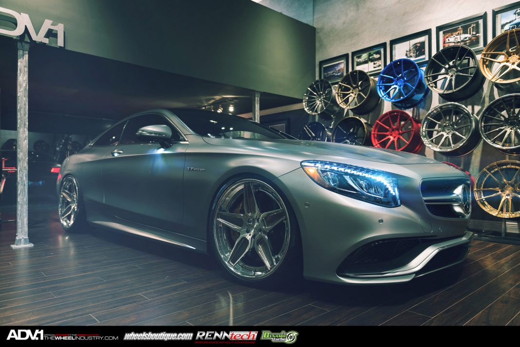 matte grey mercedes benz s63 amg coupe with adv 1 wheels gtspirit. Black Bedroom Furniture Sets. Home Design Ideas